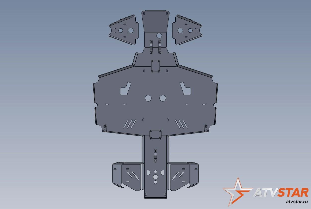 Stels 800 D – защита днища и рычагов (3 мм)