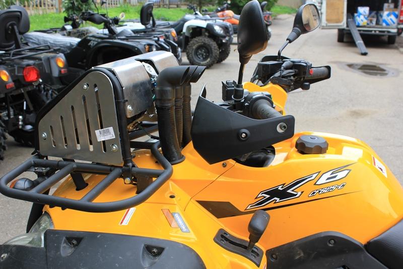 Установка доп.оборудований на CFMOTO X6 - вынос радиатора, установка шноркелей, защита днища и рычагов, передний кенгурин.