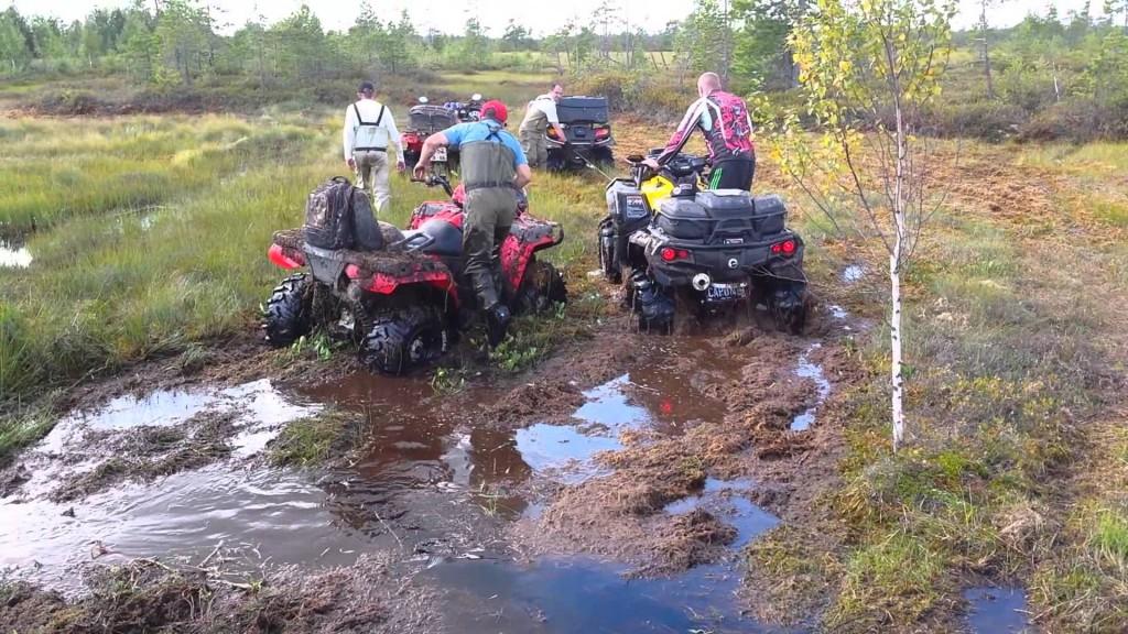Покатушки на квадроциклах по болоту