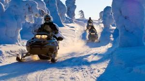 Экстрим на снегоходах