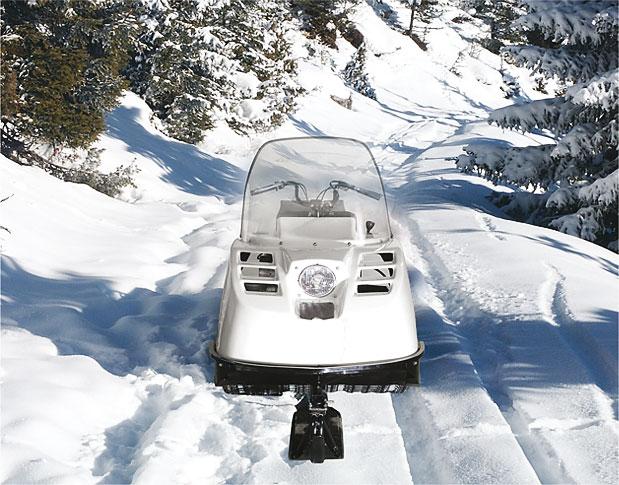Маневренность снегохода Буран