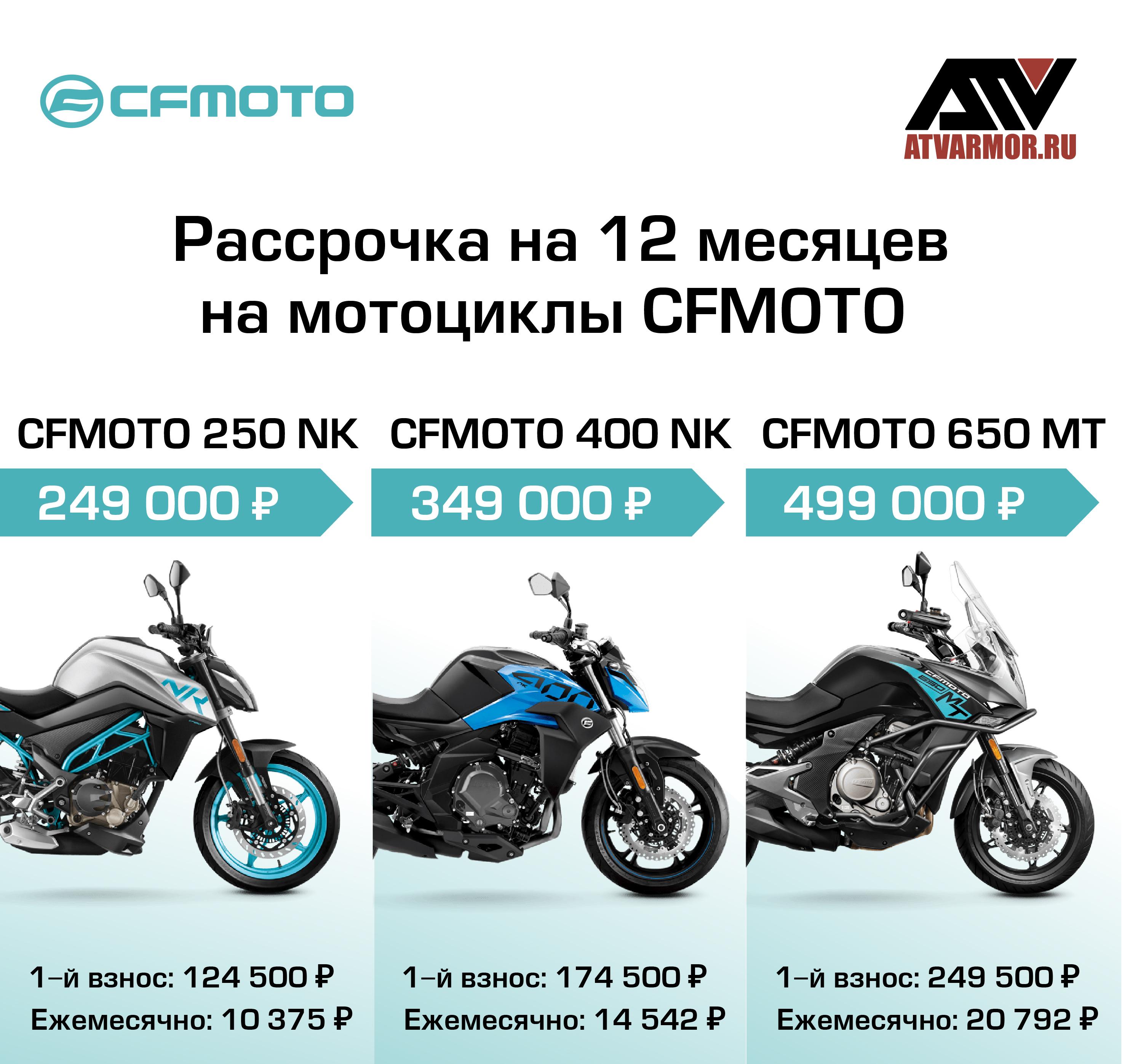 Рассрочка и легкий кредит на мотоциклы CFMOTO!