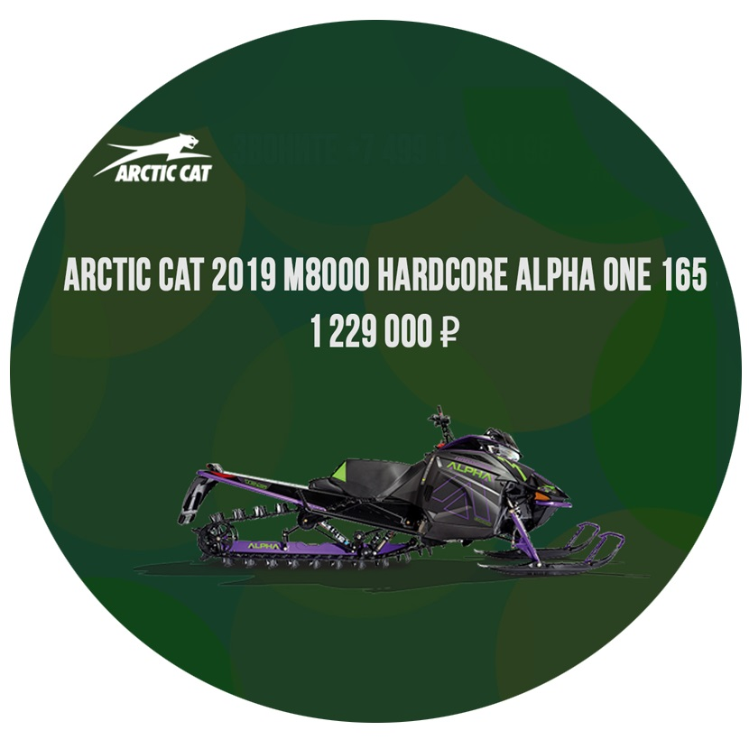 alpha m8000 165 arctic cat