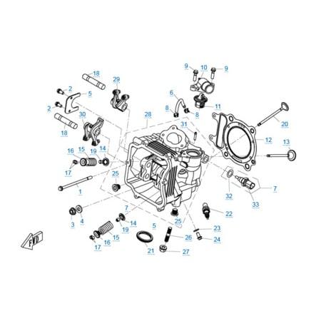 Головка цилиндра двигателя 1P72MM-A(A1)