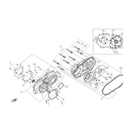 Корпус вариатора (2016) двигателя 191R(A)