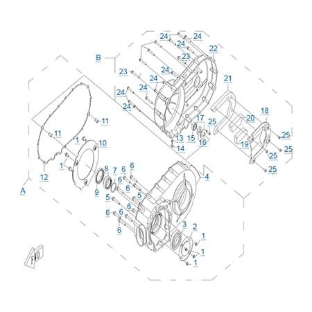 Корпус вариатора двигателя CF188
