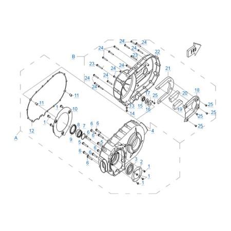 Корпус вариатора двигателя 196S-B