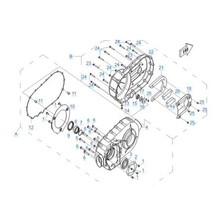 Корпус вариатора двигателя 196S-C