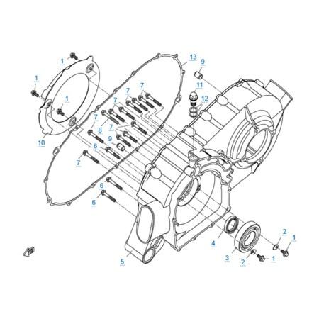 Корпус вариатора двигателя 2V91W
