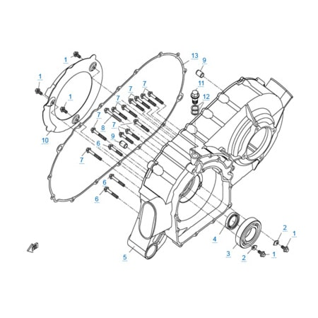 Корпус вариатора двигателя 2V91W (U8)