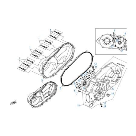 Корпус вариатора двигателя 2V91Y