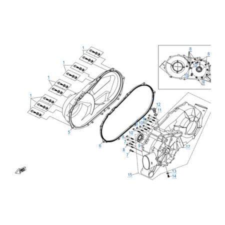 Корпус вариатора двигателя 2V91Y (U10)