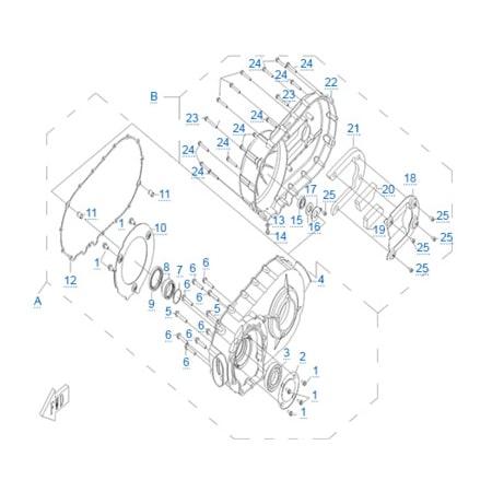 Корпус вариатора двигателя CF188-A
