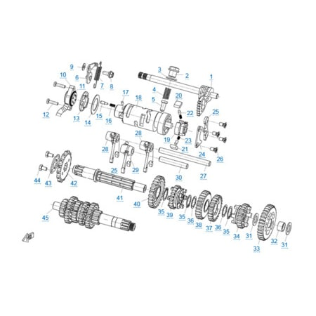 КПП 1 двигателя 157MJ-3A