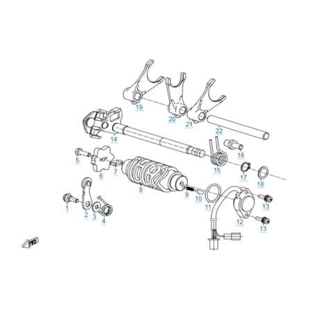 КПП 1 двигателя 172MM-2A