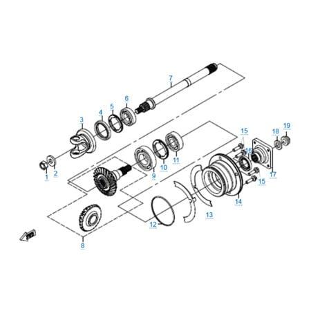 КПП 2 двигателя 196S-C