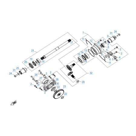 Двигатель 2V91Y (X10)