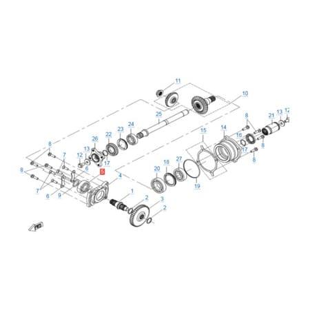 КПП 2 v2 двигателя 191R(A)