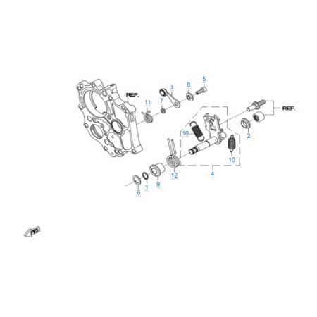 КПП 3 двигателя 268MQ