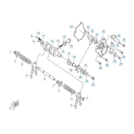 Двигатель CF188-A
