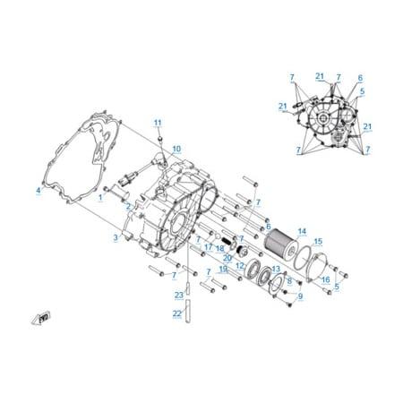 Крышка картера двигателя 191R(A)