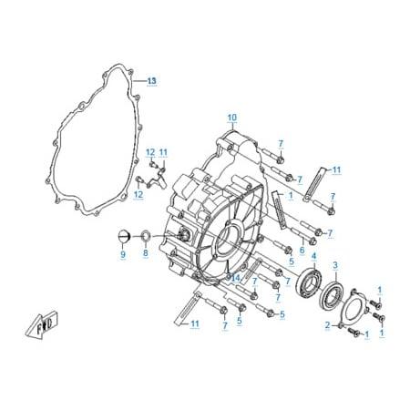 Крышка картера двигателя 196S-B