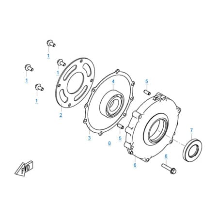 Крышка сцепления двигателя 1P72MM-A(A1)