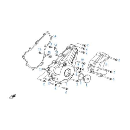 Левая крышка картера двигателя 172MM-2A