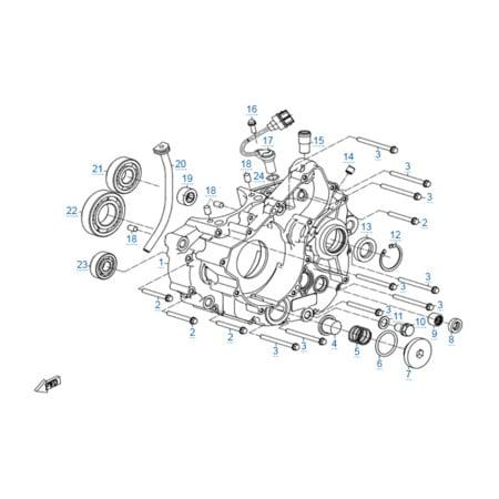 Левая половина картера двигателя 172MM-2A