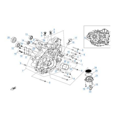 Левая половина картера двигателя 191S