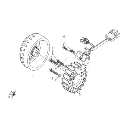 Магнето в сборе двигателя 157MJ-2A