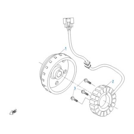 Магнето в сборе двигателя 191R(A)