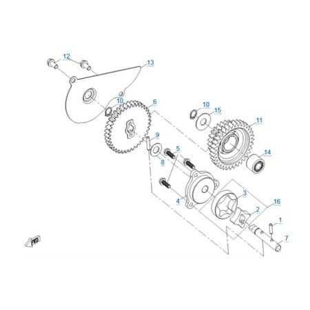 Масляный насос двигателя 191S