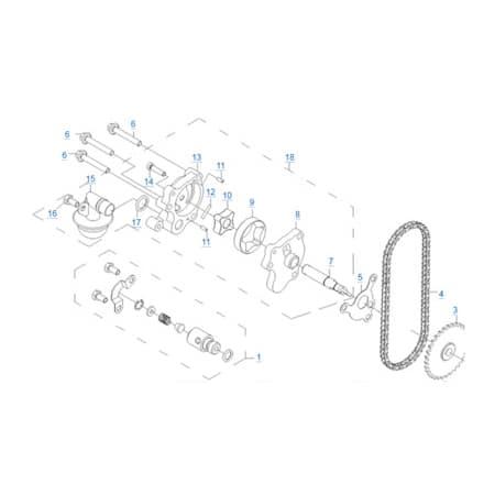 Масляный насос двигателя 196S-C