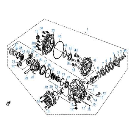 Передний редуктор для CFMOTO Z10 EFI&EPS