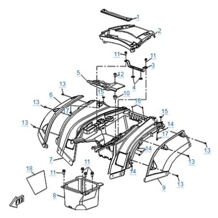 Запчасти для CF500-A Basic