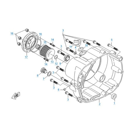 Правая крышка картера двигателя 157MJ-2A