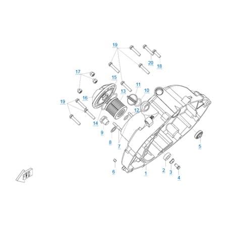 Правая крышка картера двигателя 157MJ-3