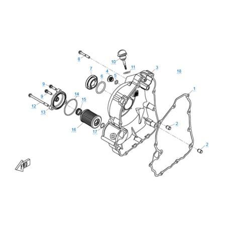 Правая крышка картера двигателя 1P72MM-A(A1)