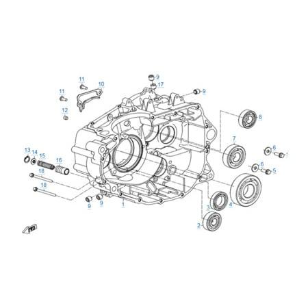 Правая половина картера двигателя 172MM-2A
