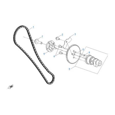Система газораспределения двигателя 191R(A)