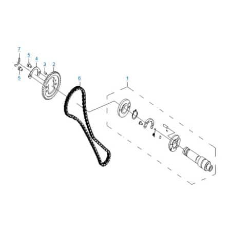 Система газораспределения двигателя 196S-C