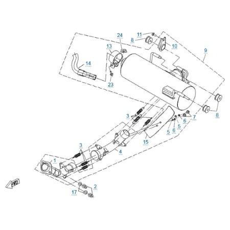 Запчасти для CF625-Z6 EFI
