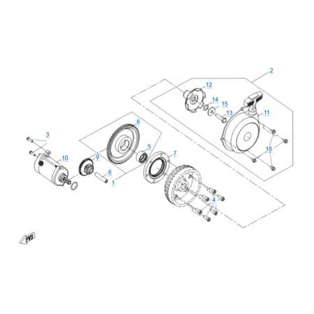 Стартер двигателя 191R(A)