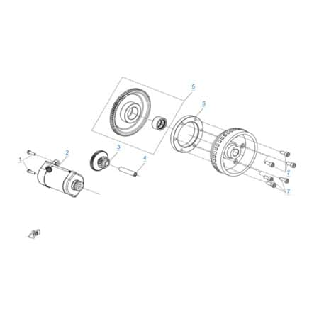 Стартер двигателя 191S