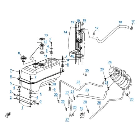 Топливная система для CFMOTO 250 JETMAX