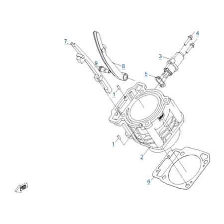 Цилиндр двигателя 191R(A)