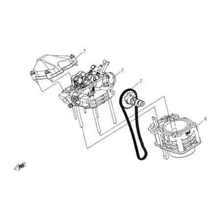 Цилиндр и головка цилиндра в сборе двигателя 191Q