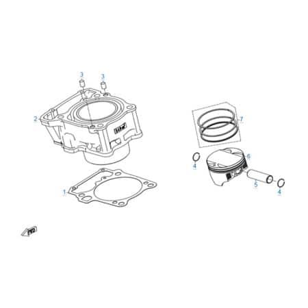 Цилиндр - поршень двигателя 172MM-2A