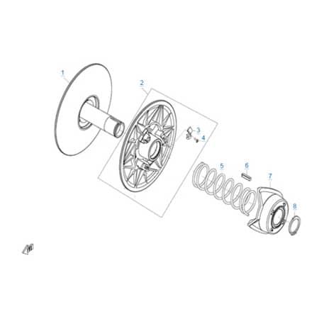 Ведомый шкив вариатора (CV-Tech) двигателя 196S-B